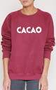 Cacao Slogan Burgundy Oversized Sweater (Variant) by Top Threads