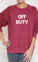 Off Duty Slogan Burgundy Oversized Sweater (Variant) by Top Threads