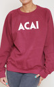 Acai Slogan Burgundy Oversized Sweater (Variant) by Top Threads