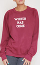 Winter Has Come Slogan Burgundy Oversized Sweater (Variant) by Top Threads