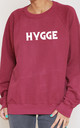 Hygge Slogan Burgundy Oversized Sweater (Variant) by Top Threads