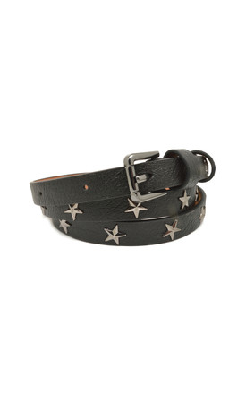 Star Studded Belt Black by White Leaf Product photo