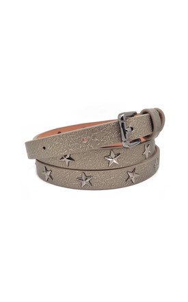 Star Studded Belt Metallic Bronze by White Leaf