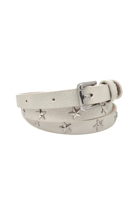 Star Studded Belt Pale Grey by White Leaf Product photo