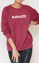 Namaste Slogan Burgundy Oversized Sweater (Variant) by Top Threads