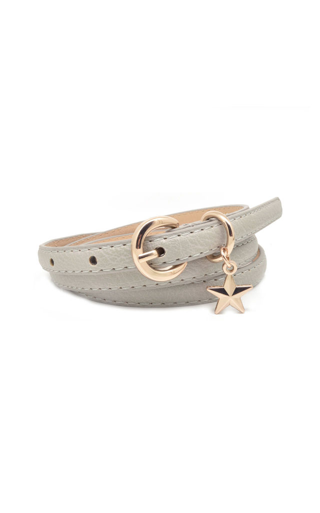 Star Charm Belt Pale Grey by White Leaf