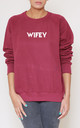 Wifey Slogan Burgundy Oversized Sweater (Variant) by Top Threads