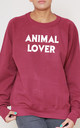 Animal Lover Slogan Burgundy Oversized Sweater (Variant) by Top Threads