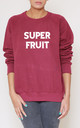 Superfruit Slogan Burgundy Oversized Sweater (Variant) by Top Threads