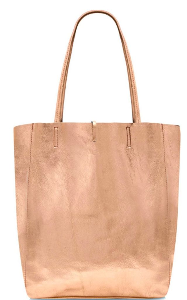 Leather Shopper Handbag - Rose Gold by Tonic Lifestyle