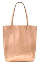 Leather Shopper Handbag - Rose Gold by Blondie Rocks