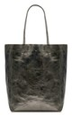Leather Shopper Handbag - Pewter by Blondie Rocks