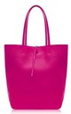 Leather Shopper Handbag - Fuchsia by Blondie Rocks