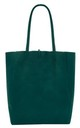 Leather Shopper Handbag - Dark Teal by Blondie Rocks