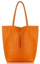 Leather Shopper Handbag - Orange by Blondie Rocks