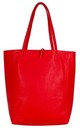 Leather Shopper Handbag - Red by Blondie Rocks