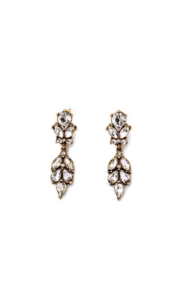 Drop Crystal Gem Earring Gold by LAST TRUE ANGEL Product photo