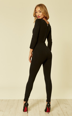 Clio longsleeve jumpsuit by Manners London