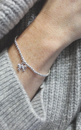 Sterling Silver Taylor Bow Bracelet by Dollie Jewellery