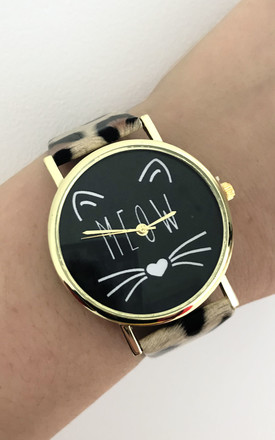 Leopard Print Cat Watch by Tallulah's Threads