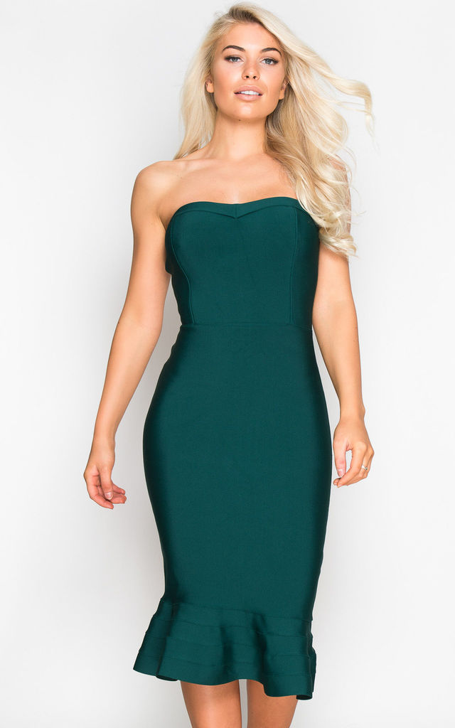 ... Margot Frill Hem Bandage Midi Dress Emerald by Girl In Mind ... 4aa4c542e