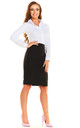 Black High Waist Pencil Skirt by AWAMA