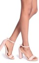 Nelly Nude Nappa Single Sole Block Heel by Linzi