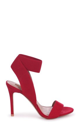 Crystal Red Suede Stiletto Heel With Elasticated Upper by Linzi