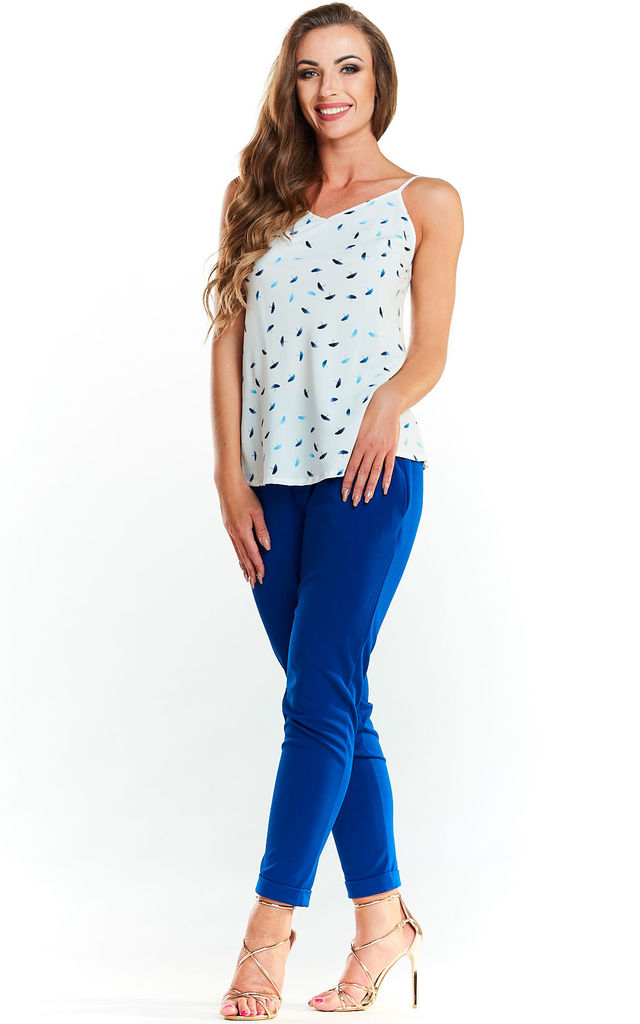 Cami Top in scattered blue pattern by AWAMA