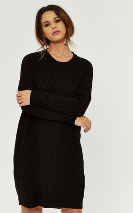 Black Long Sleeve Jumper Dress by Noisy May Product photo