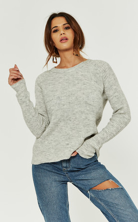 Grey Long Sleeve Round Neck Knit by Noisy May Product photo