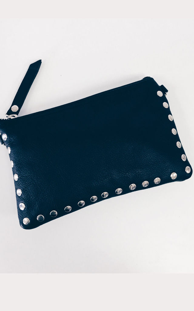SILVER STUDDED MINI BAG by THE CODE HANDBAGS