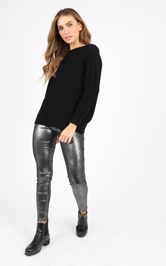 Metalic Silver Stratchable Leggings by FreeSpirits