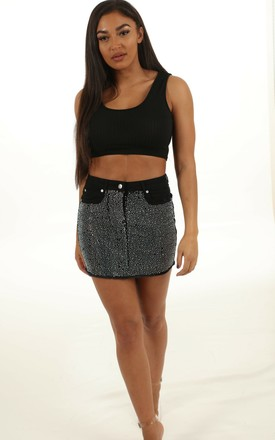 Shannon Diamante Stud Skirt by Auroras Angels