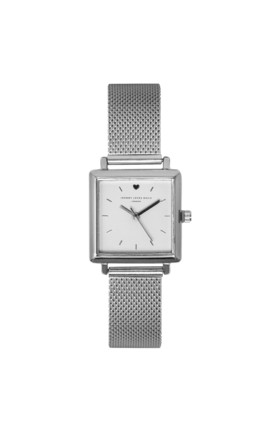 Square Silver Mesh Watch by Johnny Loves Rosie
