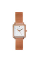 Square Rose Gold Mesh Watch by Johnny Loves Rosie