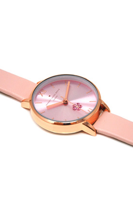 Pink Jewelled Flower Watch by Johnny Loves Rosie