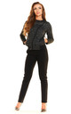 Black Melange Long Sleeve Zipped Jacket by AWAMA