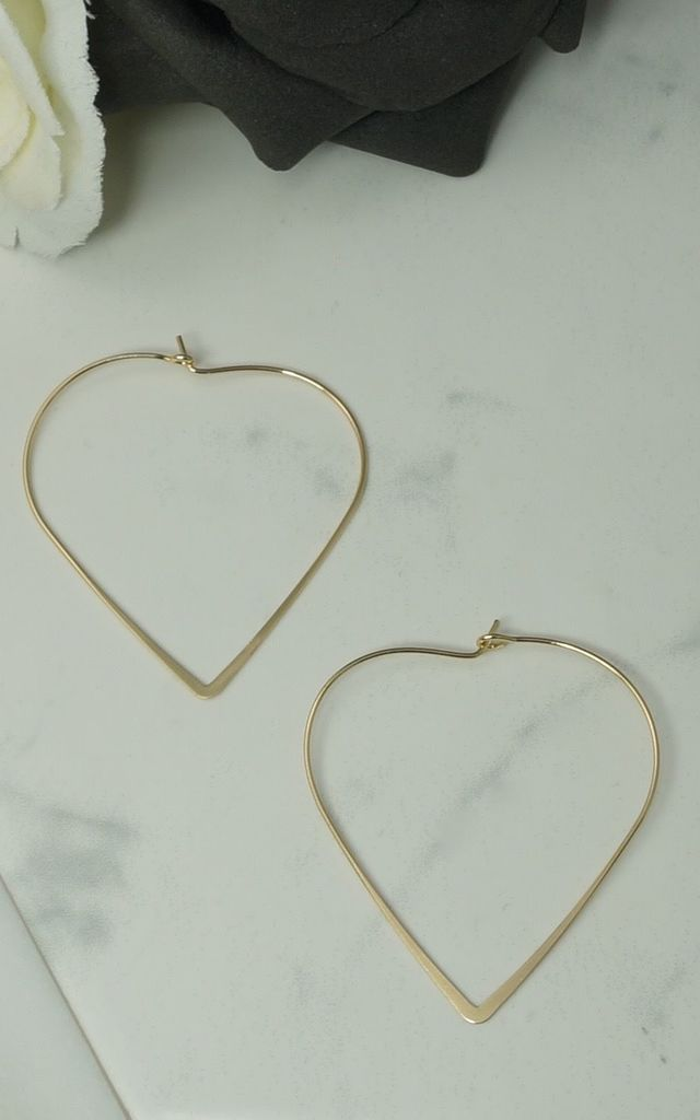 Heart shaped hoop earrings by EPITOME JEWELLERY