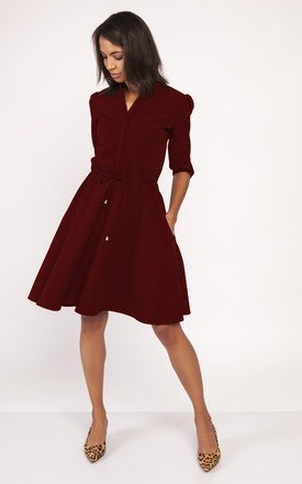 Fit and flare dress in burgundy by Lanti