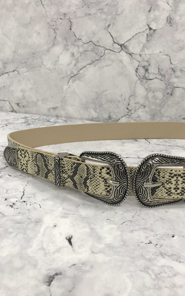 Snake Western Buckle Belt by Rogue Fox
