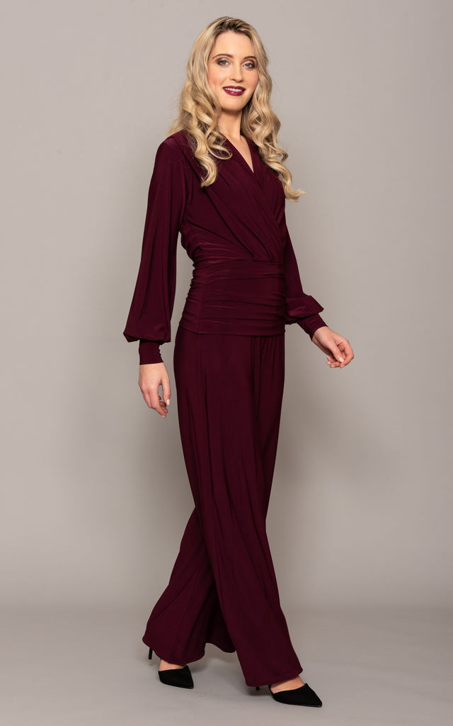 Plum Pleat Front Jumpsuit – Uranium by ATOM LABEL
