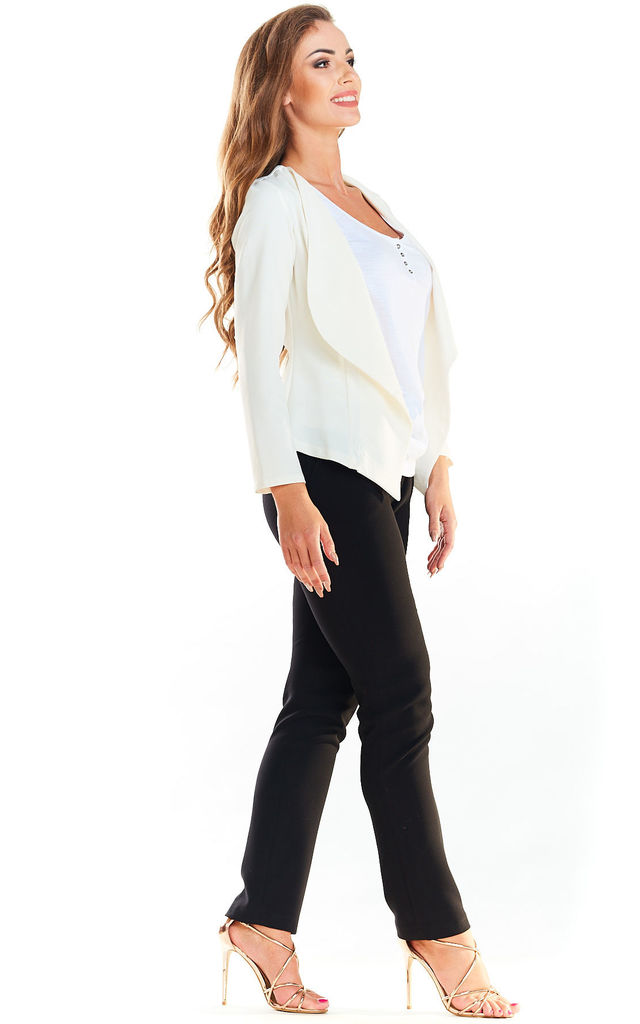 Fitted open Blazer in white by AWAMA