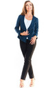 Fitted Open Blazer in Navy Blue by AWAMA