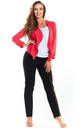 Fitted Open Blazer in Fuchsia Pink by AWAMA