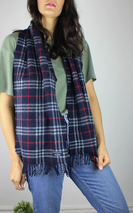 Vintage Burberry Lambswool Check Scarf by Re:dream Vintage