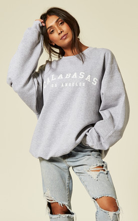 69a83795e Calabasas Los Angeles Slogan Sweater Cosy Oversized Baggy Lounge Gym Long  Sleeve Pullover Knitwear Jumper T Shirt Tops