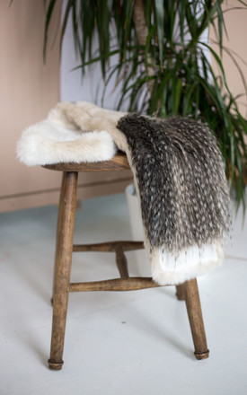 Combined Faux Fur Scarf by Laurelle Woman