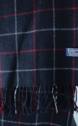 Vintage Burberry Grid Check Cashmere Scarf by Re:dream Vintage