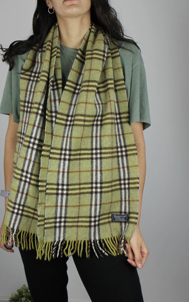 Vintage Burberry Check Cashmere Scarf by Re:dream Vintage